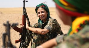 Kurds in Battle at Syria