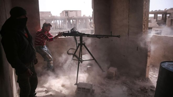 Aleppo. An urban battlefield